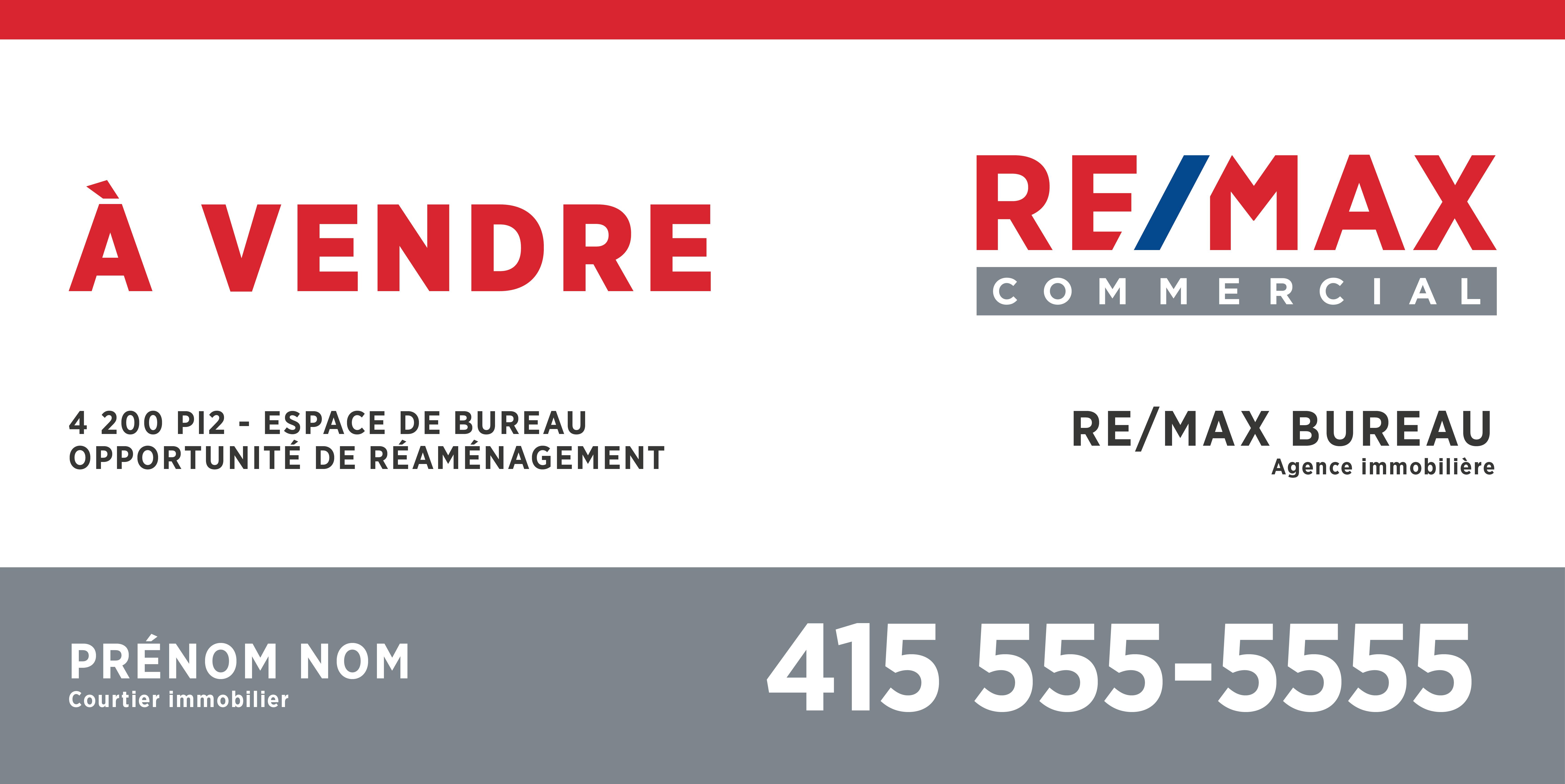 REM-1203 Enseignes commerciale A VENDRE