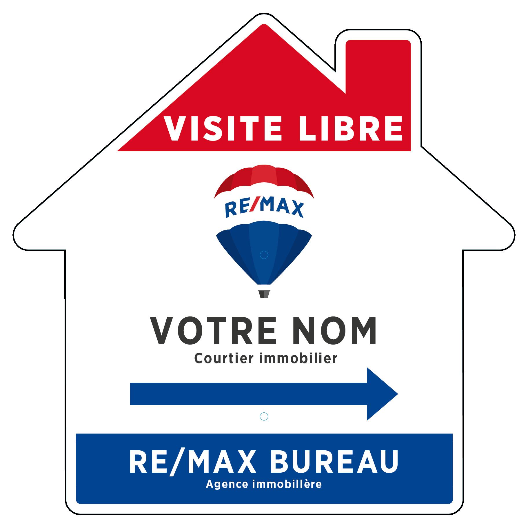 REM-1012 Enseignes directionnelles maison VISITE LIBRE